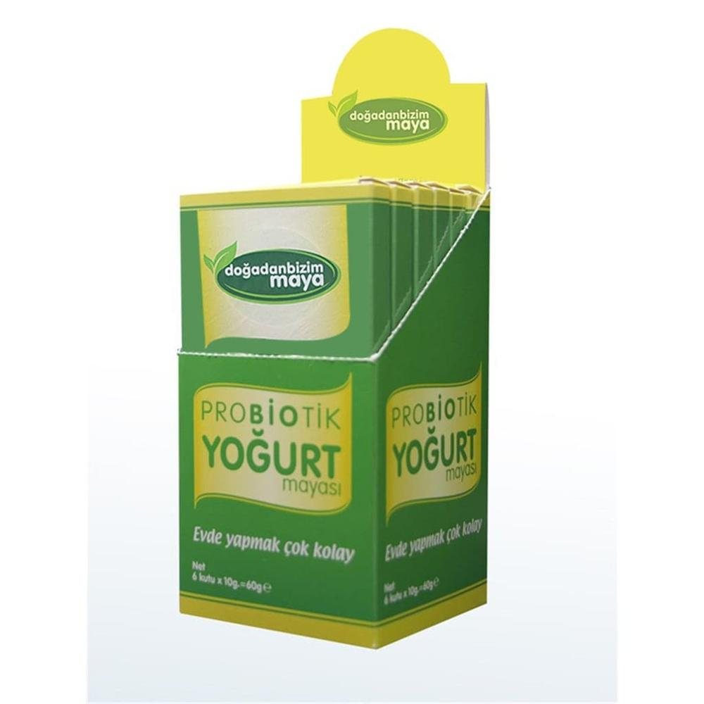 Doğadan Bizim Probiotic Yogurt Yeast Healthy Yogurt Production Yeast 6 Pieces Of 5 Boxes (30 Packets Of Yeast) Made In Turkey