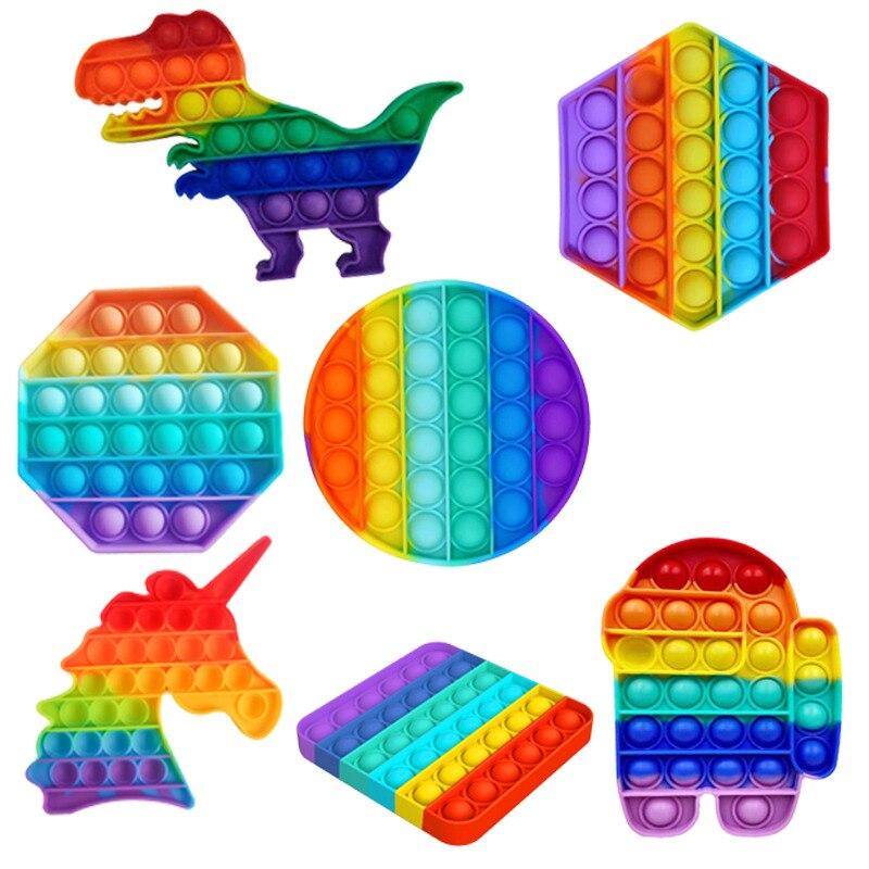 Erwachsene Kinder Antistress Erhöhen Fokus Push-Pops Blase Zappeln Sensorischen Spielzeug Autismus Spezielle Bedürfnisse Stressabbau Pop-Es Zappeln spielzeug