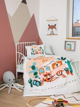 Organic %100 Cotton Baby Bedding Set, Quilt Cover Duvet Cover Bed Linen Bed Sheet Pillowcase Crib Newborns Soft Boy Girl Cartoon baby bedding set for newborns soft cotton crib bedding set with bumper for girl bed linen for kid baby nursery decor custom made