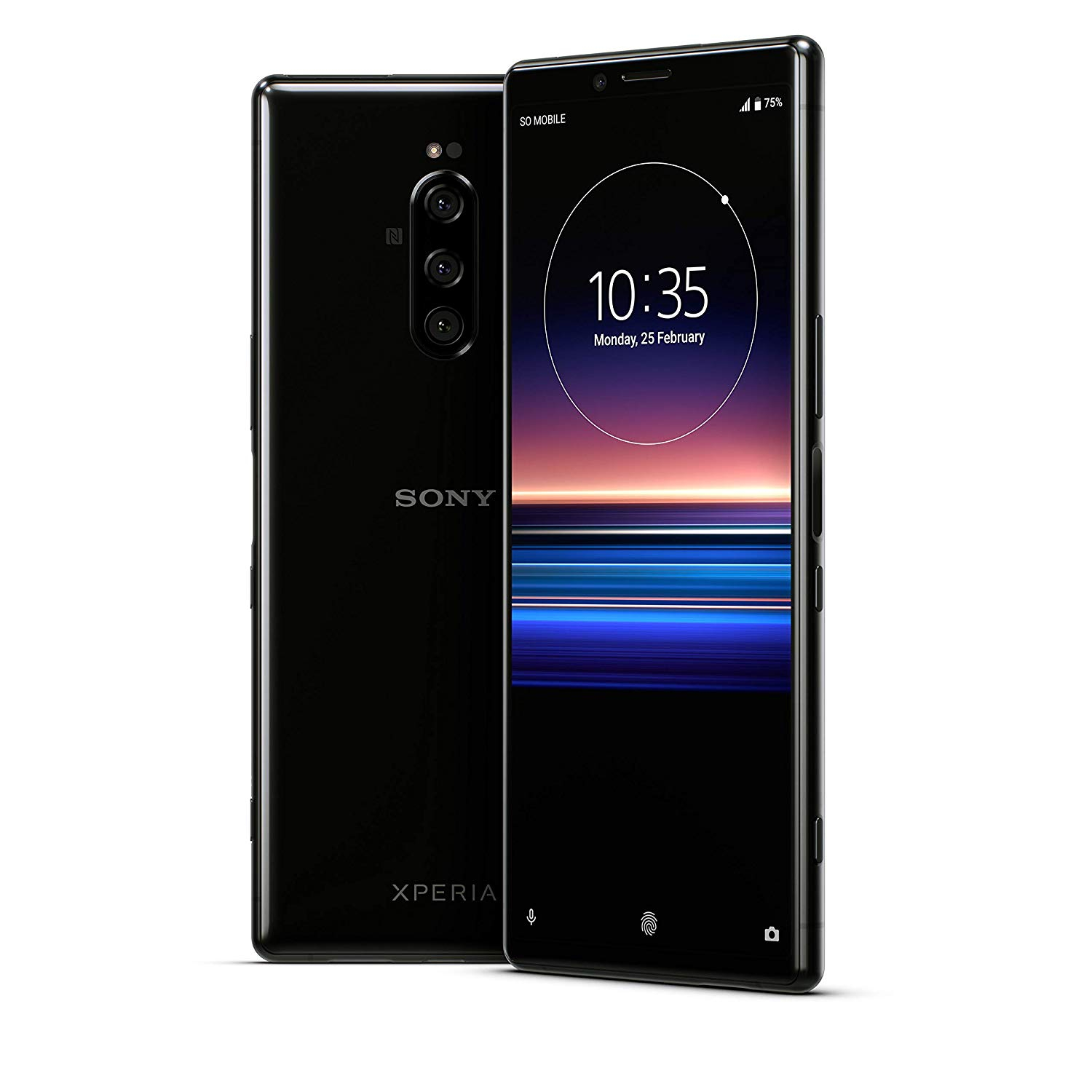 Sony Xperia 1 (J9110), Black Color (Black), 128 GB Of Internal Memory 6 GB RAM, Dual SIM, OLED Display 4K HDR 6.