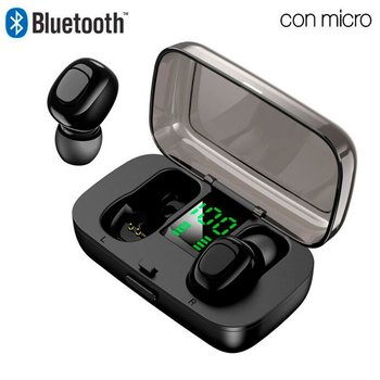 Pod Earbuds COOL DISPLAY Stereo Bluetooth Headsets Black