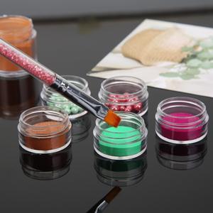 Image 2 - 10 adet kozmetik kavanoz kutusu makyaj krem tırnak sanat kozmetik boncuk saklama kabı konteyner yuvarlak şişe taşınabilir plastik şeffaf kılıf