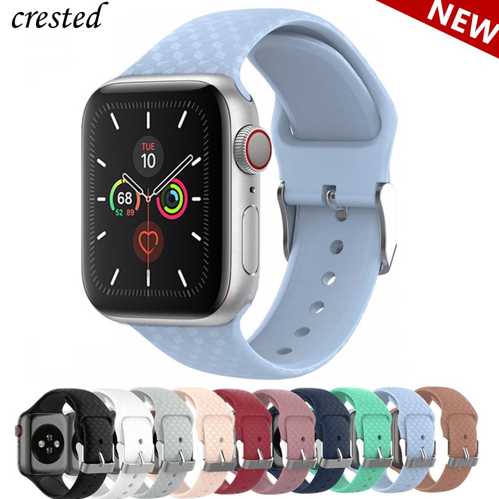 3D Texture Strap For Apple Watch 5 Band 44mm 40mm Iwatch Band 38mm 42mm Sport Silicone Watchband Bracelet Apple Watch 4 3 2 1 44