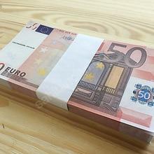 Brinquedo dinheiro piada dinheiro tamanho real 100 pçs 50 euro banknoteuro grande festa de casamento s jóias não dinheiro real!