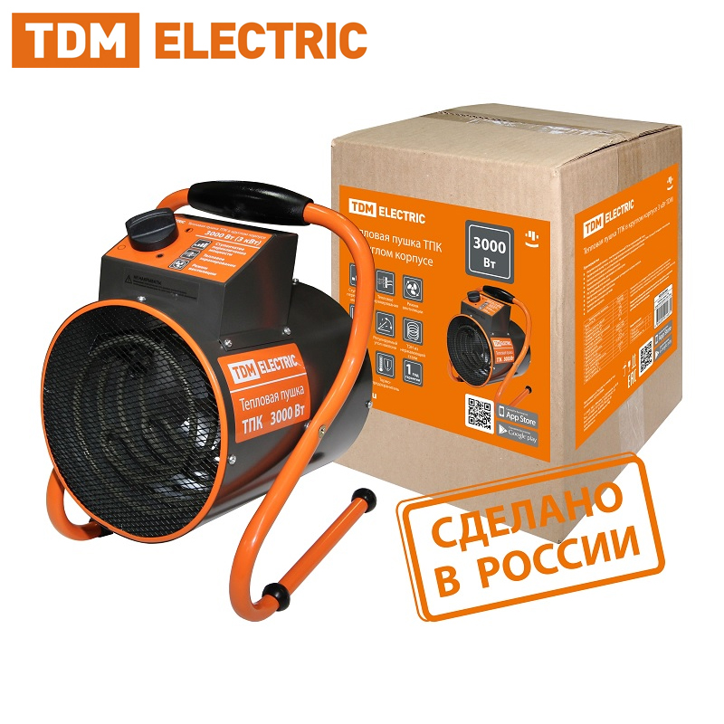 Heat Gun ТПК In Round Case 3 KW TDM SQ2520-0002