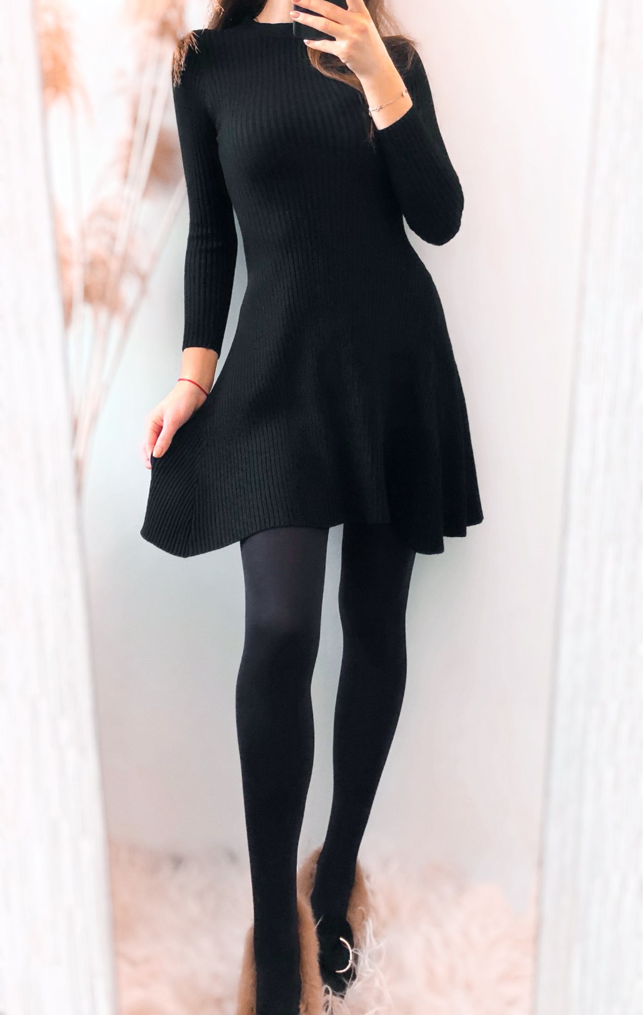 Women Long Sleeve Sweater Dress Women's Irregular Hem Casual Autumn Winter Dress Women O neck A Line Short Mini Knitted Dresses|Dresses|   - AliExpress