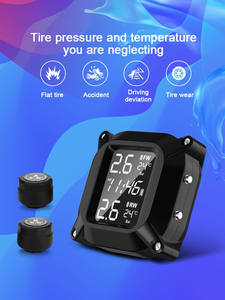 Temperature-Monitoring-System Sensor Active-Alarm Time-Display Tire-Pressure-Tire Motorcycle Tpms