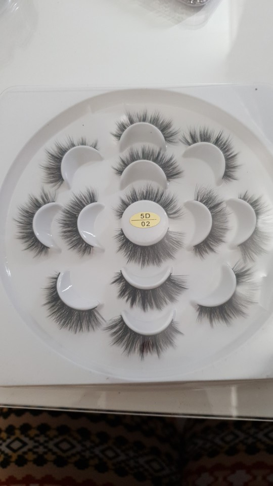 Natural Long 3D Mink Lashes 7 pairs/Set