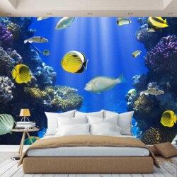 3D Foto behang papier Water Wereld, vis, behang custom, hal, keuken, meubels, kinderen, foto behang verbeteren ruimte
