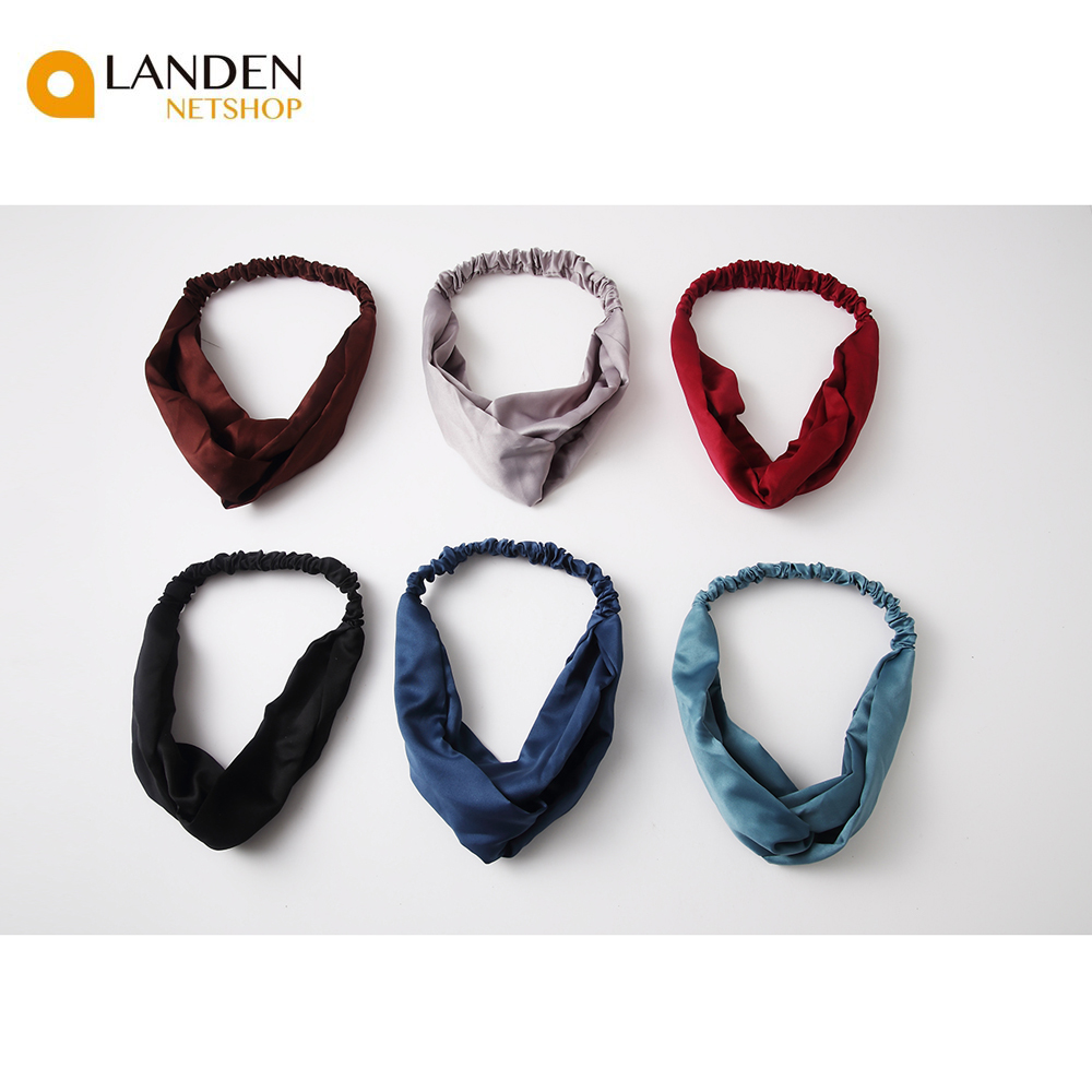 Tiaras Elastic Bands Hair Soft Solid For Women Fittings For The Head Sports LANDEN NETSHOP