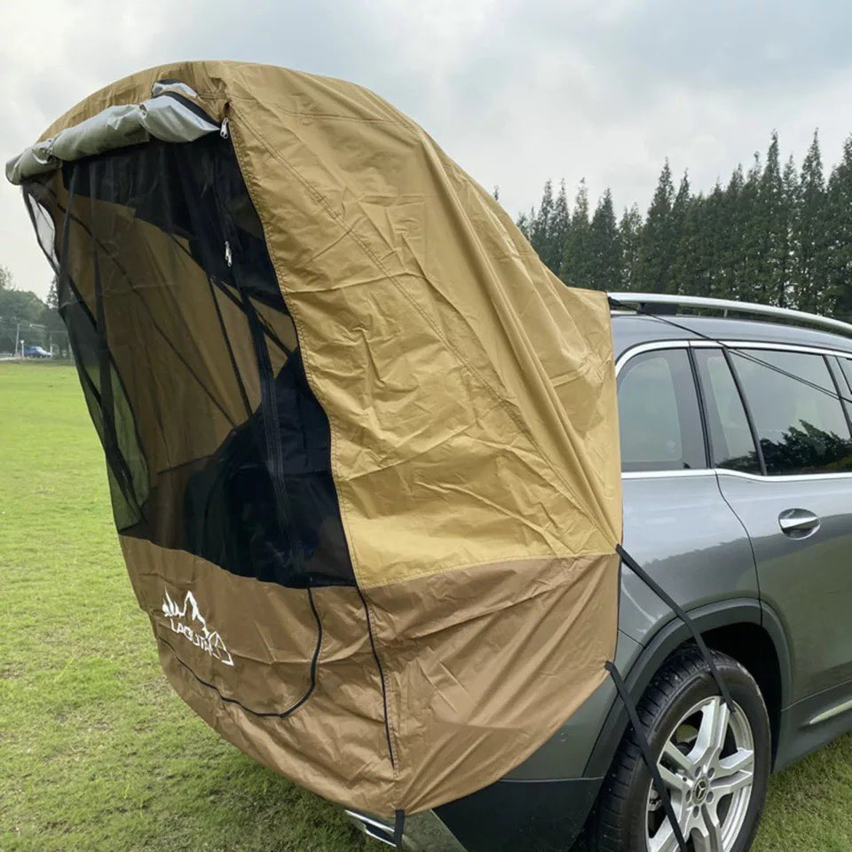 Polyester Car Trunk Tent SUV Self-driving tent shelter Rays Barbecue Camping Tail Extension Sunshade Rainproof Tourist Tent