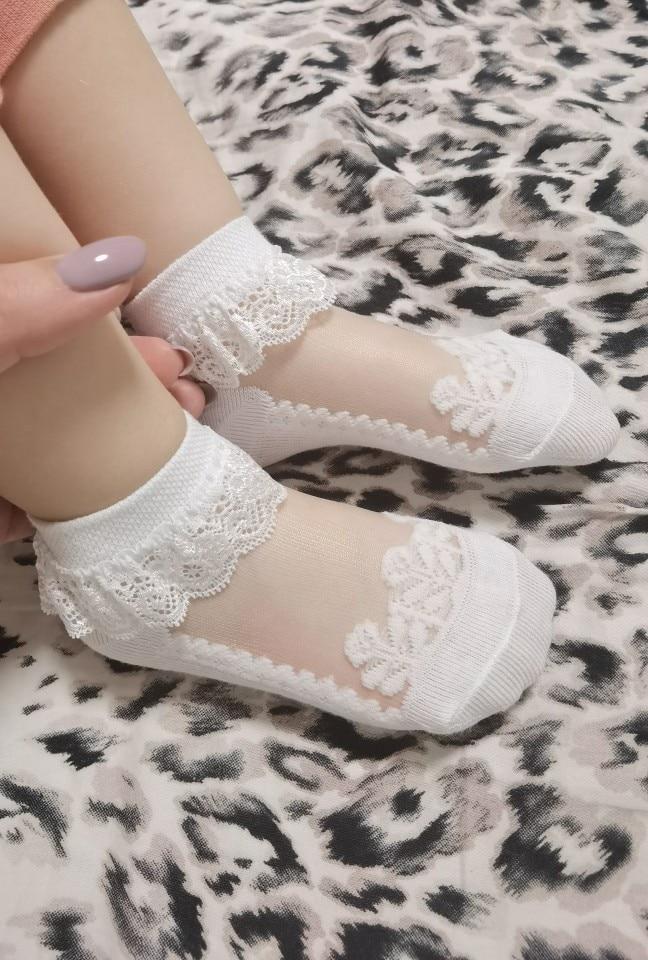 3pairs/Lot Princess Cotton Socks Lace Socks Soft Ruffled Summer Breathable photo review