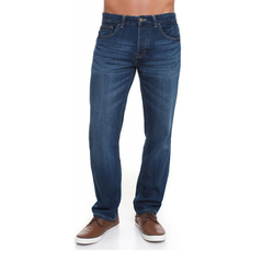 Crosshatch Cowboy Men Jorge Color Mid Straight Jeans Men Casual American Size Trousers Color Mid Wash CH2B112119MW3STK