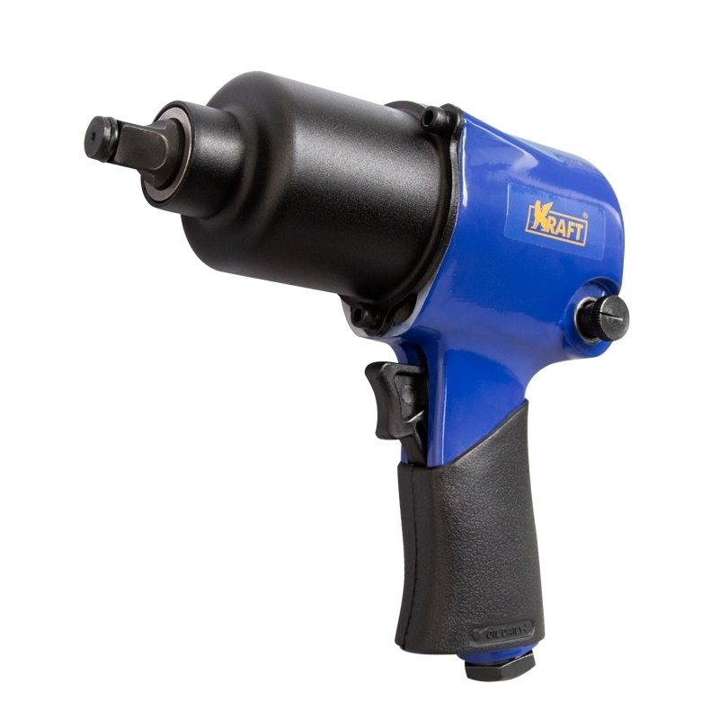 Pneumatic impact wrench KRAFT KT 707001 drive Size 1/2 inch, no-load Speed 7500 rpm max. To the 1 1 2 inch 2 2 way pneumatic globe control valve angle seat valve normally closed 63mm pa actuator