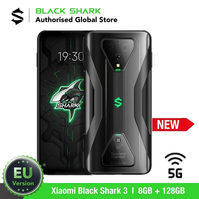 EU Version Xiaomi Black Shark 3 128GB ROM 8GB RAM 5G Gaming phone (Newly Launch Promos) blackshark, blackshark3 Smartphone Mobil image