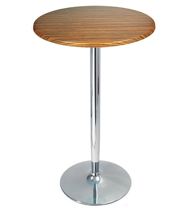 Table CRISS, High Chrome Topalit-Zebrawood-60 Cms *