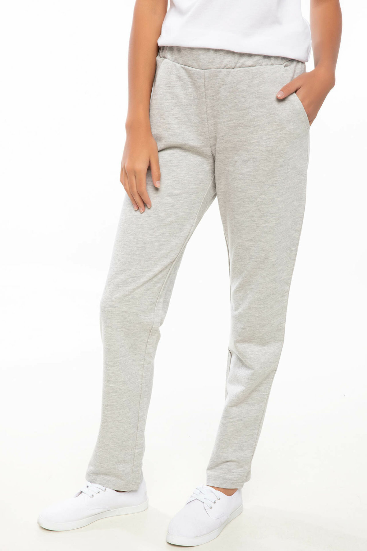 DeFacto Fashion Women Solid Elastic Waist Trousers Casual Harem Pants Ladies Loose Leisure Pants Female - I9717AZ18AU