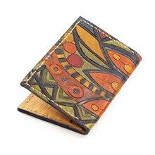 Genuine Leather Card Holder 2020 New Trend Passport Holder Fashion Marbling Art Credit Card Holder High Quality Designer Holder
