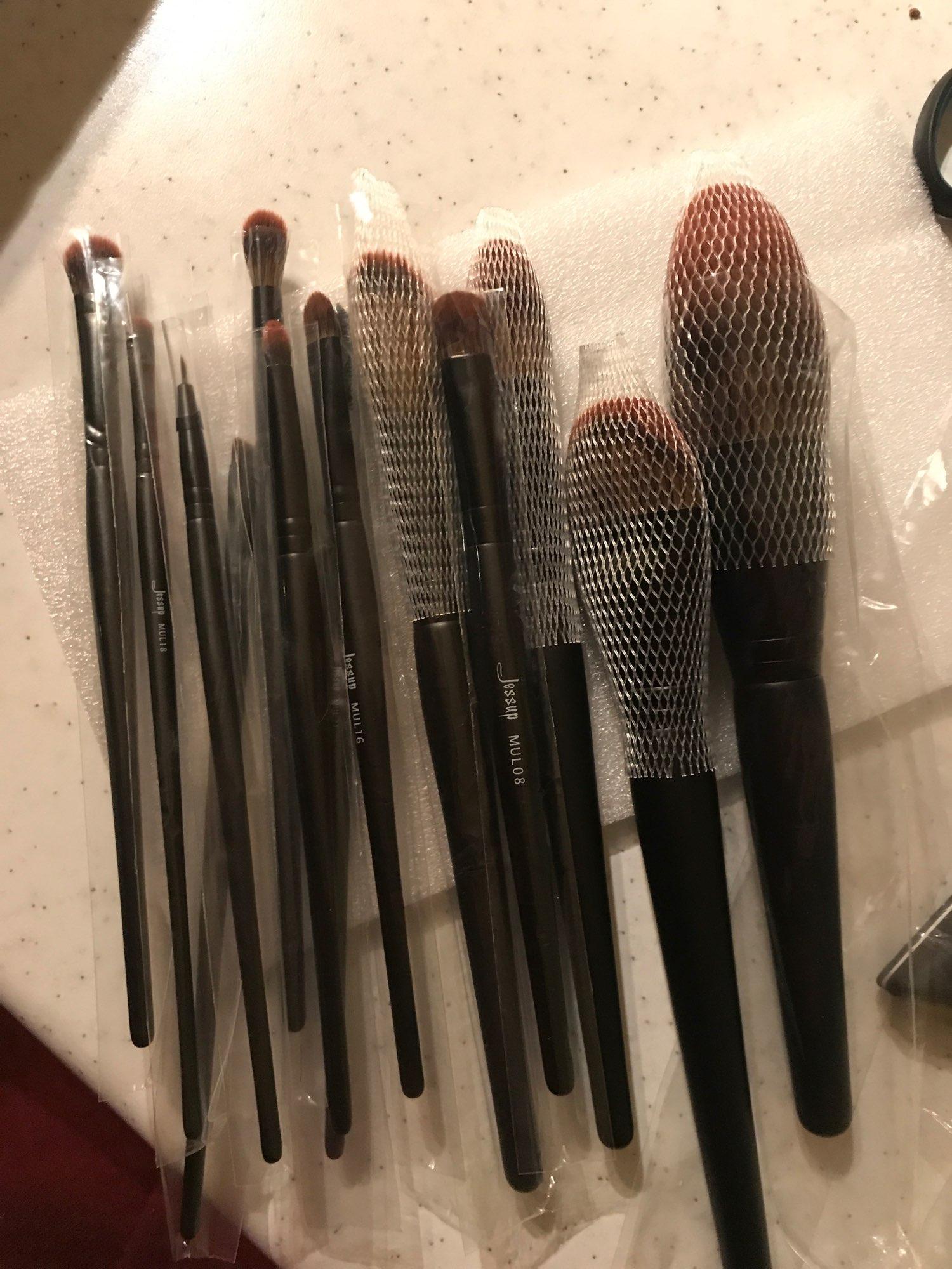 Jessup New Arrival Makeup brushes brushes Phantom Black 3-21pcs Foundation brush Powder Concealer Eyeshadow Synthetic hair reviews №1 235811