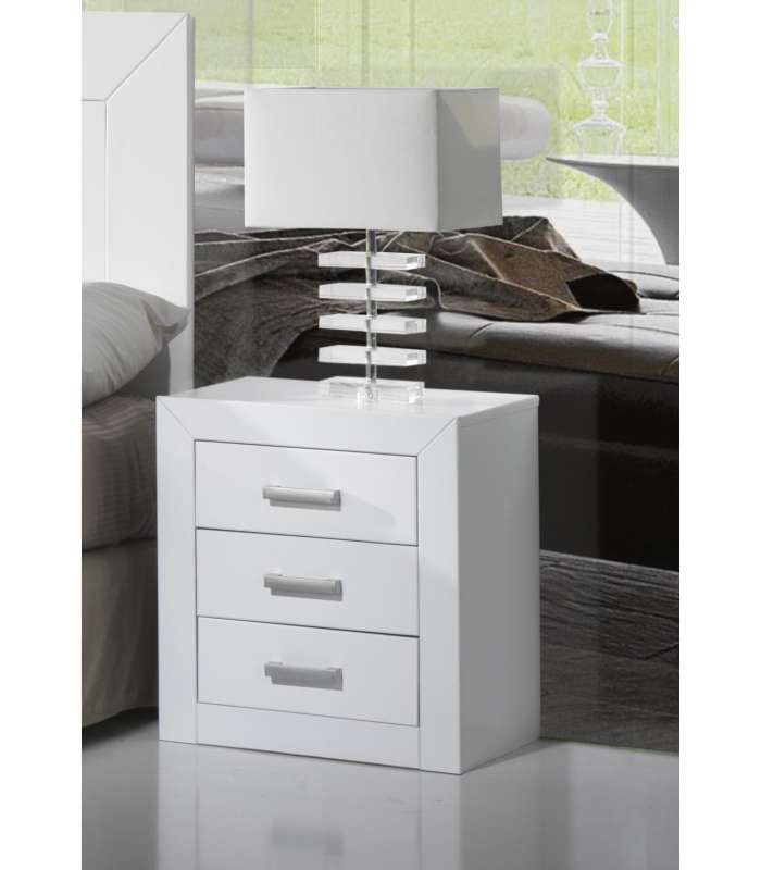 Table 3 Drawers Youth Bedroom OR Marriage White Lacquered