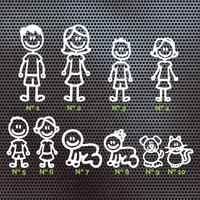 4 X MIEMBRO FAMILIA Un BORDO PERSONAJE PEGATINA COCHE ADHESIVO FAMIGLIA DECALCOMANIA AUTO