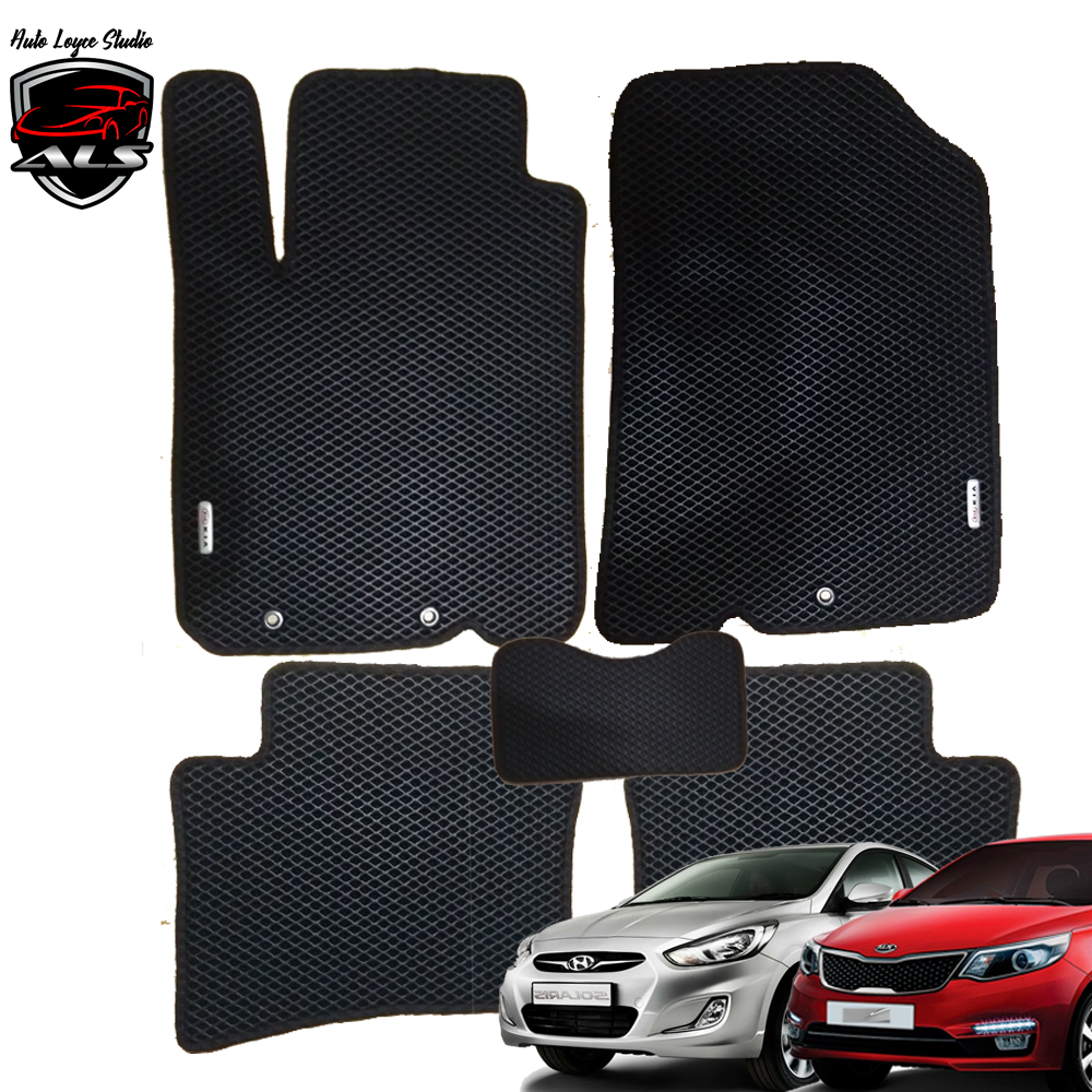 Car Floor Mats EVA PRIME For HYUNDAI SOLARIS 1 Hyundai Solaris