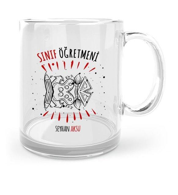 Personalized Class Teacher Glass Mug Cup-7