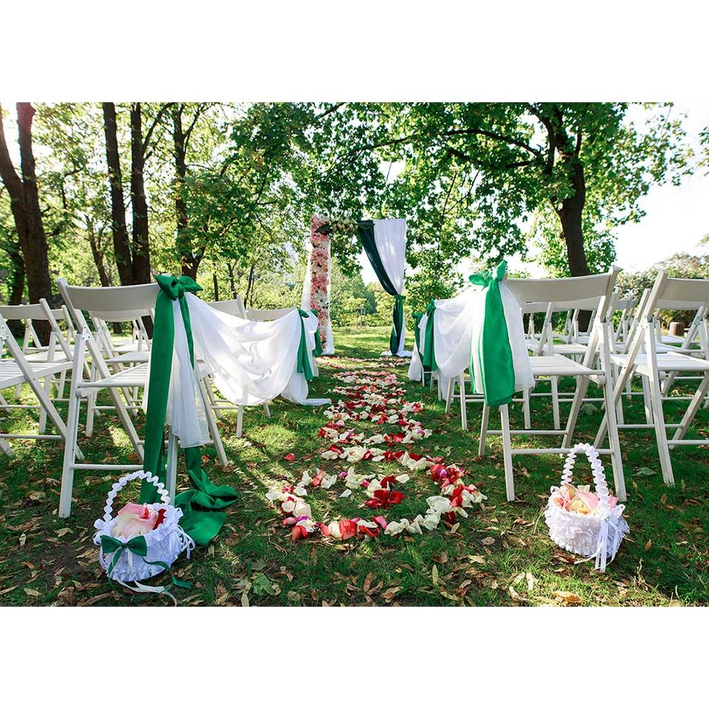 Flowers Petals Outdoor Chair Photographic Backdrop Custom Backgrounds for Lovers Valentine's IV