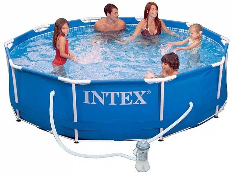 Intex Pool Scaffold Metal Frame 305x76 Cm 4485л Pump With Filter 1250 L/H