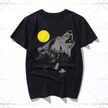Летняя повседневная мужская футболка серого цвета 2019 с принтом