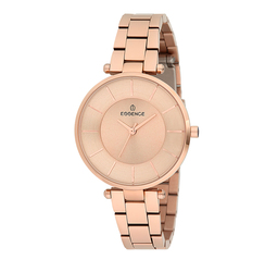 Reloj para mujer es6418fe. Pulsera de acero inoxidable 440 con revestimiento de IP Rosa cristal mineral luz solar