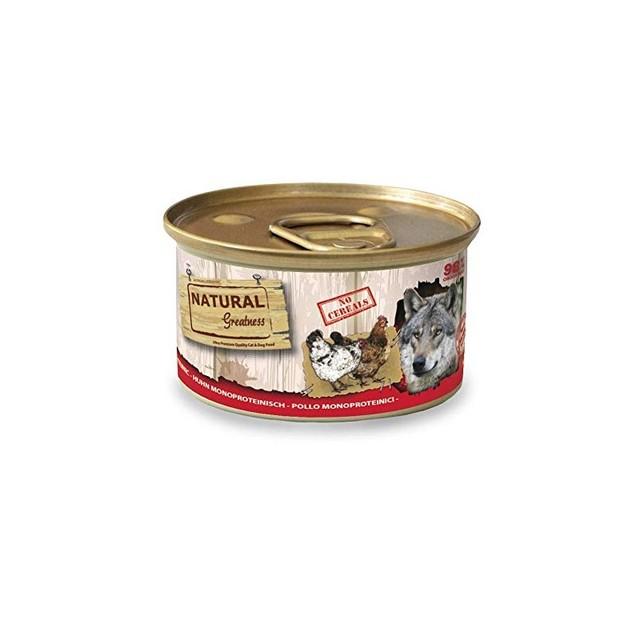 Comida Húmeda para Perros Receta Monoproteica de Pollo. Pack de 12 Unidades. 170 gr Cada Lata