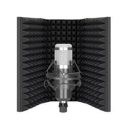 Neewer Pro Microfoon Isolatie Schild, 3-Panel Pop Filter, hoge Dichtheid Absorberend Schuim Front & Geventileerde Metalen Achterplaat