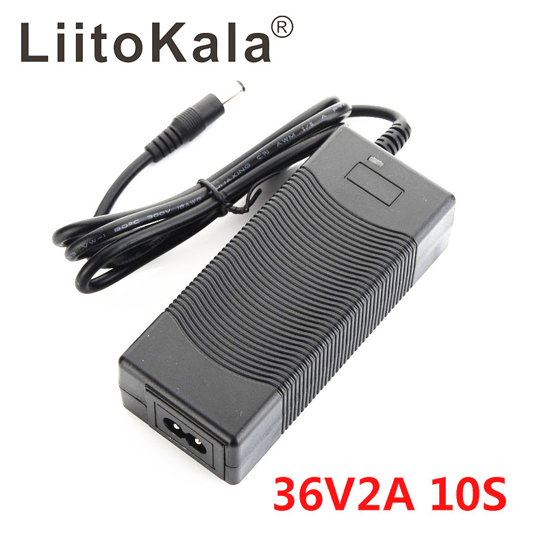 LiitoKala 10S 36V2A charger 42V 2A Charger 100-240V Input Lithium Li-ion Charger For 36V Electric Bike and wo-wheel Vehicle