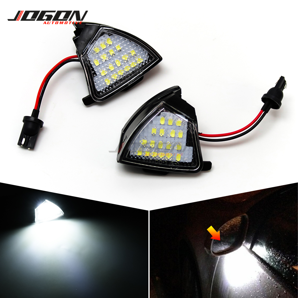For Volkswagen VW <font><b>GOLF</b></font> 5 Plus GTI Jetta MK5 Passat B5.5 B6 EOS <font><b>LED</b></font> Side Mirror Rearview Puddle Light Welcome Courtesy Lamp <font><b>Trim</b></font> image