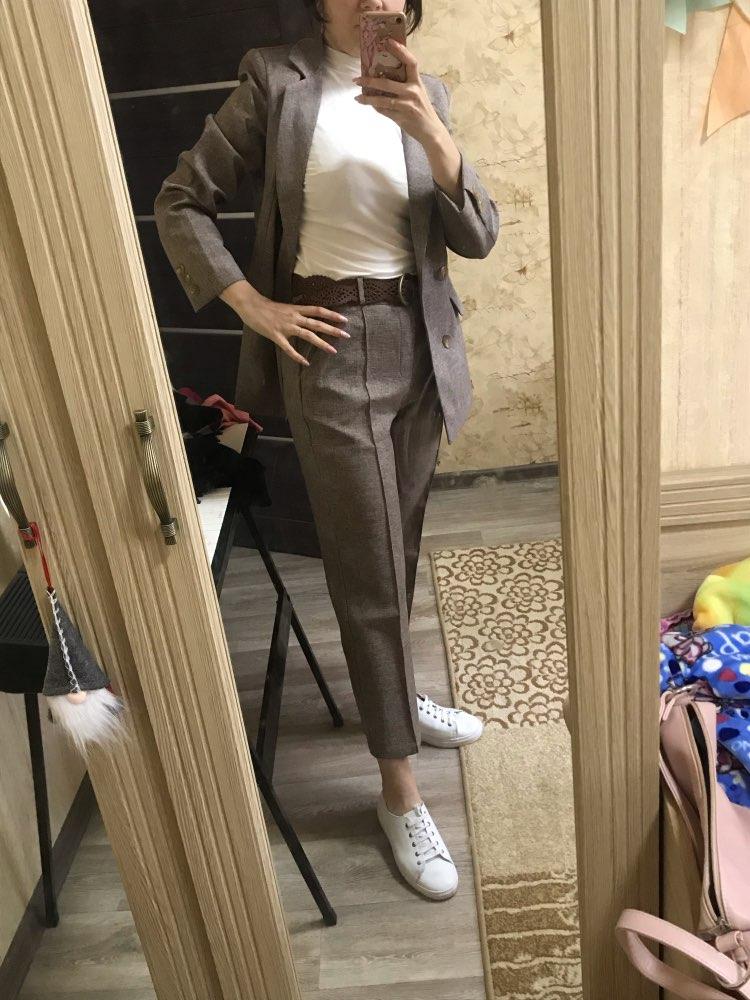 Women Suit 2 Piece Sets Casual Blazer High Waist Pant Office Lady Notched Jacket Pant Suits Femme set reviews №2 77072