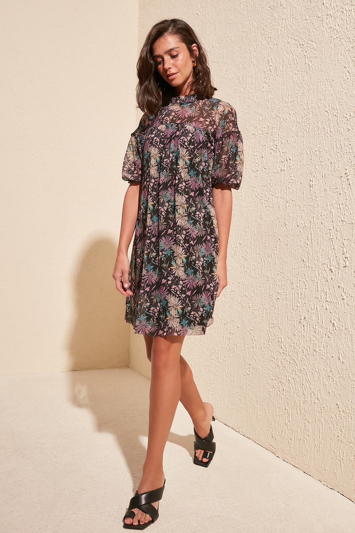 Trendyol Patterned Dress TWOSS20EL1209