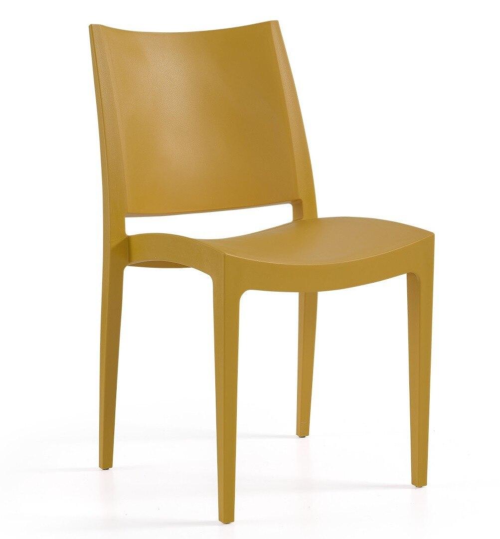 Chair BEYBE, Stackable, Polypropylene Mustard