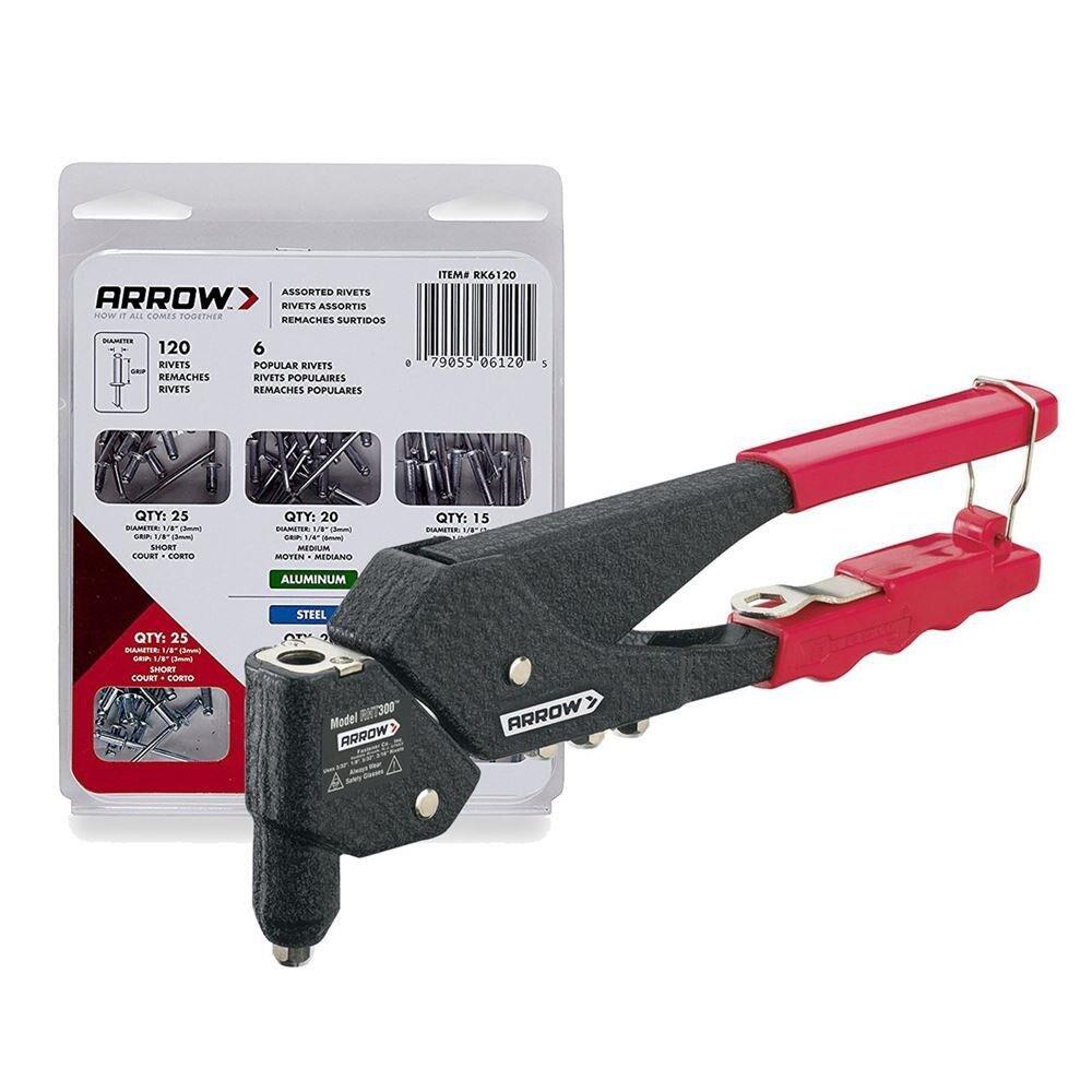 Arrow RHT300 2.5-5mm Professional Rivet Gun + 120 PCs Rivet