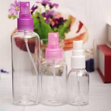 1 adet 30ml 50ml 100ml rastgele renk seyahat şeffaf plastik parfüm Atomizer küçük MIni boş sprey doldurulabilir şişe