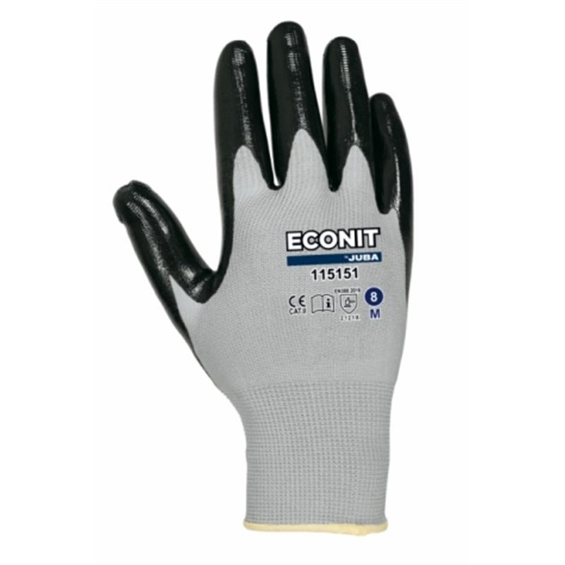 GLOVE MECHANICAL M08 NEGROGROJO ECO-NIT NYL GR JUBA