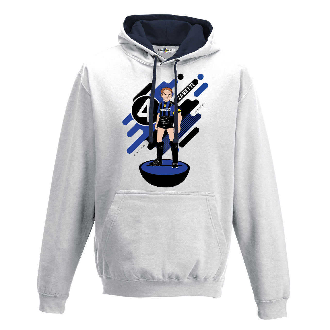 Hood Sweatshirt Bico <font><b>Soccer</b></font> Manga Zanetti <font><b>Inter</b></font> <font><b>Milan</b></font> Legend Spoof Subbuteo Holly and Benji S image