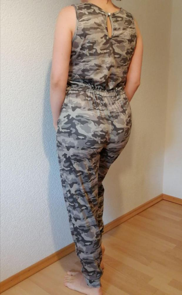 2020 New Summer Fashion Camouflage Vest Jumpsuits Women Casual Lace Up Full Length Pants Pocket Jumpsuits