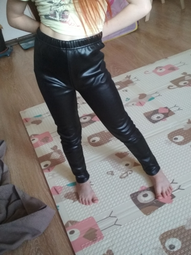 2019 Baby Girls Leggings Winter Kids Thick Velvet Leggings Pencil Pants Children Warm Trousers Faux PU Leather Legging Slim Pant