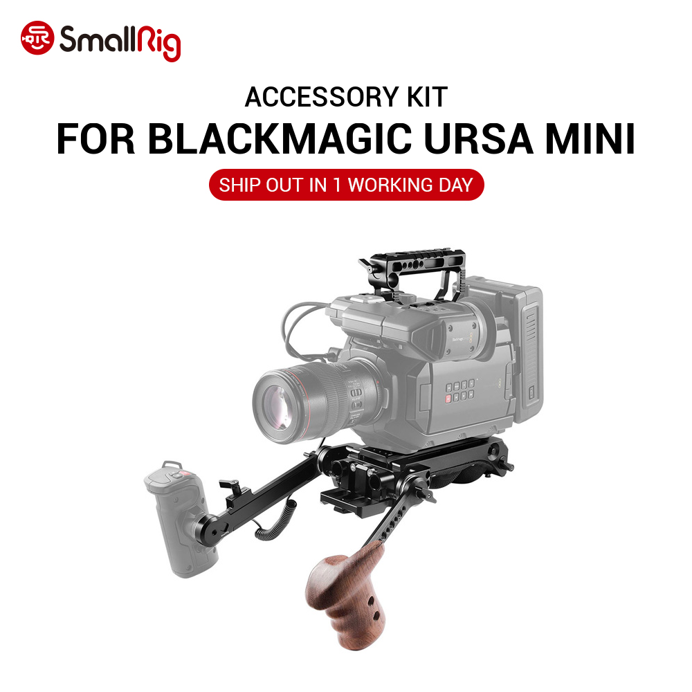 Smallrig Accessory Kit For Blackmagic Ursa Mini Ursa Mini Pro With Shoulder Support System Top Handle With Wooden Handle 2030d Kit Kits Kit Prokit Accessories Aliexpress