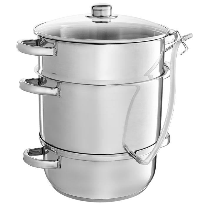 Sokovarka Webber BE-08/2 stainless steel, 8 L outdoor portable stainless steel wine pot silver 8 ounce
