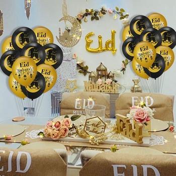 Eid Mubarak Banner balony Ramadan wystrój domu Eid Al Adha Ramadan Mubarak islamski muzułmanin Party Decor Eid Mubarak DIY prezenty tanie i dobre opinie Wayfun CN (pochodzenie) Star W1498 Lateks Ślub i Zaręczyny Id al-Fitr Chrzest chrzciny Wielkie wydarzenie do ujawnienia płci