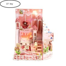 DIY House Dreams Childhood Classic Pink Interior Handmade Assembly Doll Model Child Girl Birthday Gift