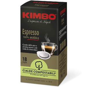 Kimbo coffee Pods compostable ESE-Harmony 100% Arabica (8x18 pods)