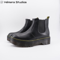 Booties Women inverno with comfortable platform boots Chelsea ankle boots in black